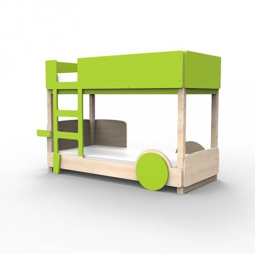 Lit Superposé Montessori vert pomme