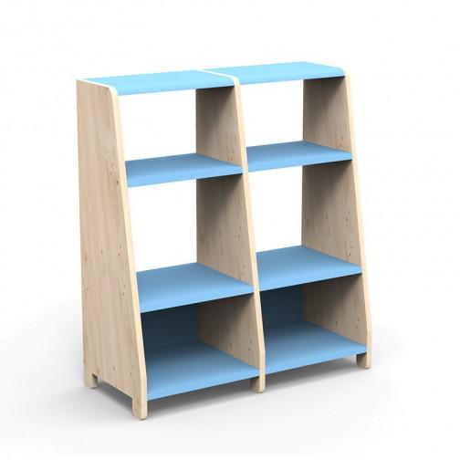 double-etagere-montessori-bleu-azur