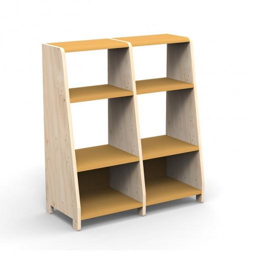 double-etagere-montessori-ocre