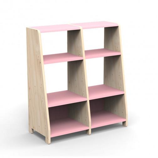 double-etagere-montessori-rose-tres-clair
