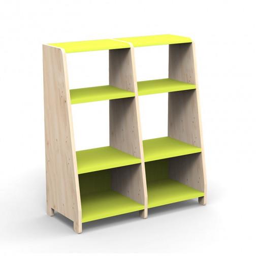 double-etagere-montessori-vert-pomme