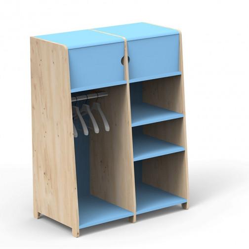 Penderie-double-montessori-bleu-azur