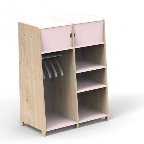 Penderie-double-montessori-rose-poudre