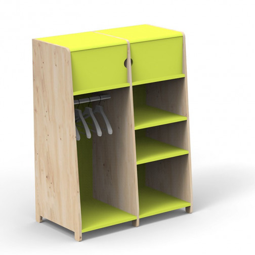 Penderie-double-montessori-vert-pomme