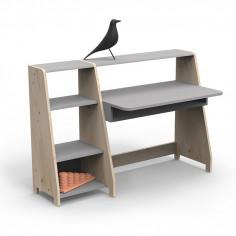 Bureau Montessori avec étagère