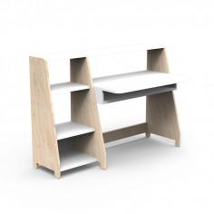 Bureau-Montessori-avec-etagere-blanc