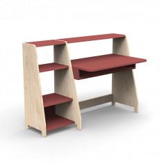 Bureau-Montessori-avec-etagere-marsala