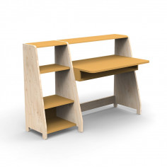 Bureau-Montessori-avec-etagere-ocre