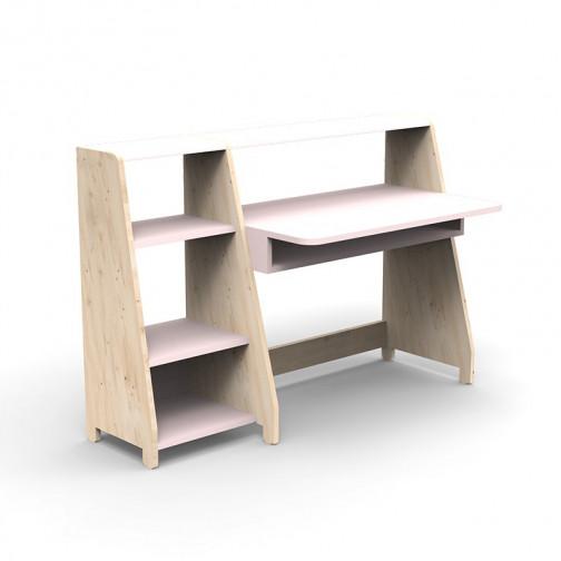 Bureau-Montessori-avec-etagere-rose-poudre