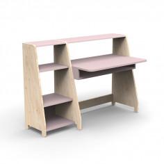 Bureau-Montessori-avec-etagere-rose-hiver