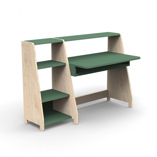 Bureau-Montessori-avec-etagere-vert-jungle