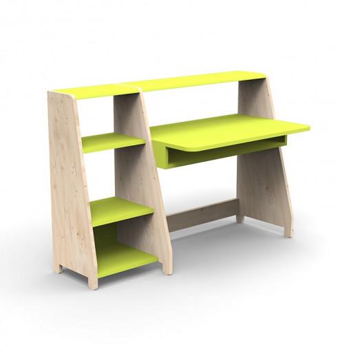 Bureau-Montessori-avec-etagere-vert-pomme