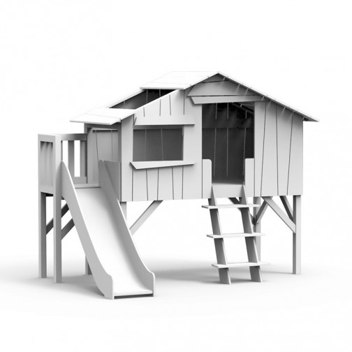 Lit-cabane-toboggan-plateforme-Blanc