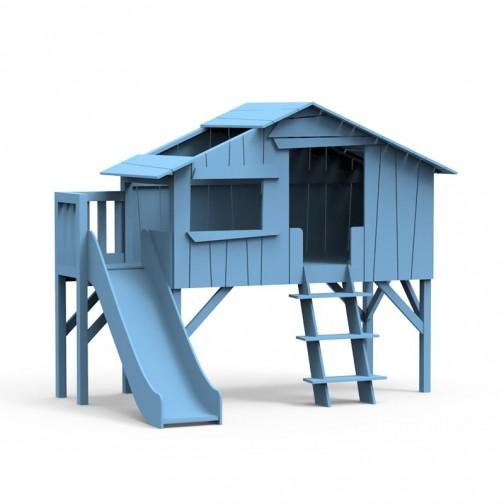Lit-cabane-toboggan-plateforme-bleu-azur