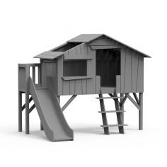 Lit-cabane-toboggan-plateforme-gris-ciment