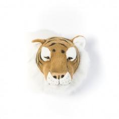 Déco murale enfant peluche Tête de tigre Bibib