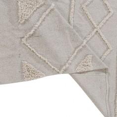 Tapis berbère blanc en coton