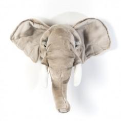 Déco murale enfant peluche tête d'Eléphant
