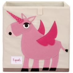 Boîte de rangement jouets Licorne