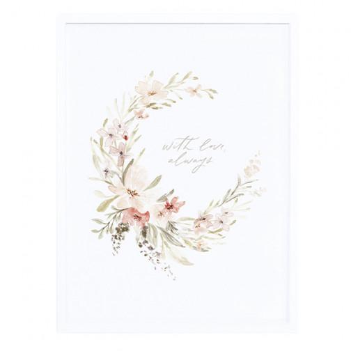 Tableau-enfant-couronne-de-fleurs