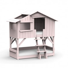 Lit-cabane-superpose-rose-poudre