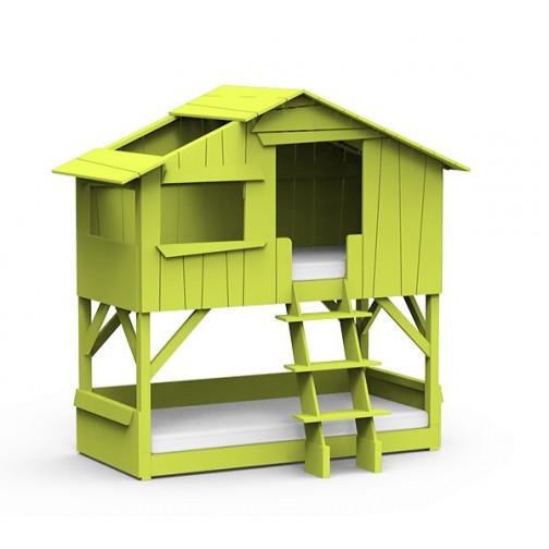 Lit-cabane-superpose-vert-pomme