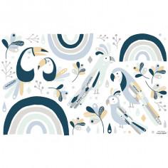 Stickers Oiseau Bleu