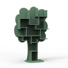 Bibliothèque enfant vert jungle