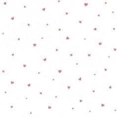 Papier Peint Enfant - LOVELY HEARTS ROSE