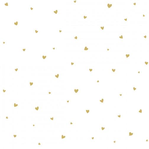 Papier Peint Enfant coeur dore
