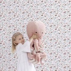 papier peint chambre fille rose pale