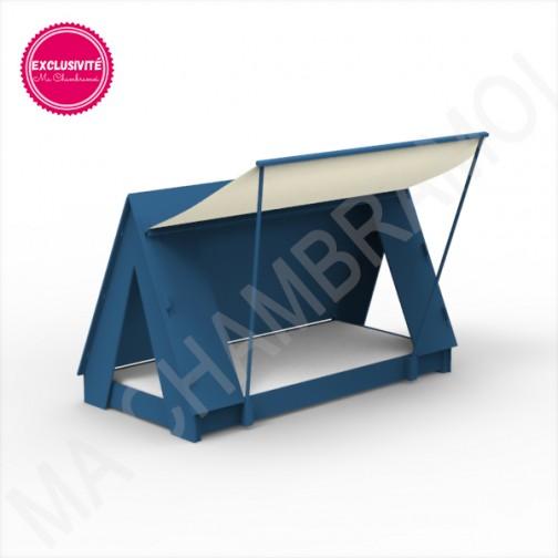 Lit Tipi Montessori bleu atlantique