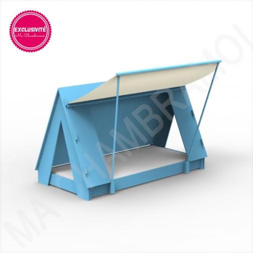 Lit Tipi Montessori bleu azur