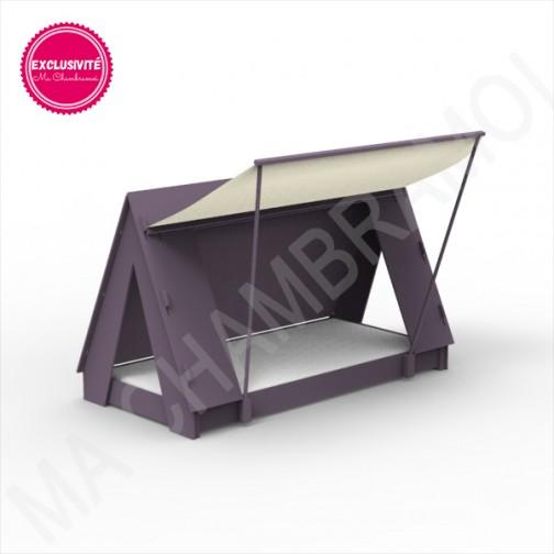 Lit Tipi Montessori violet