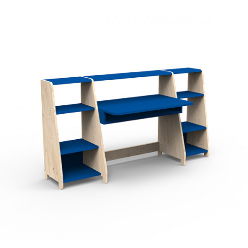 Bureau-montessori-avec-étagères-bleu-marseille