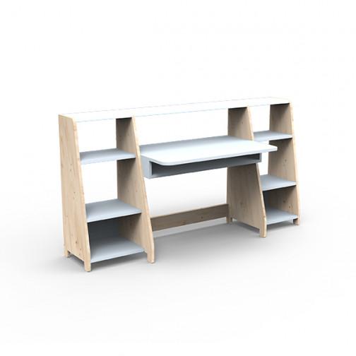 Bureau-montessori-avec-étagères-bleu-poudre