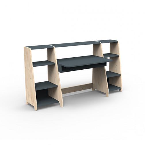 Bureau-montessori-avec-étagères-gris-basalte