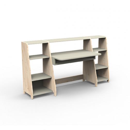 Bureau-montessori-avec-étagères-gris-mousse