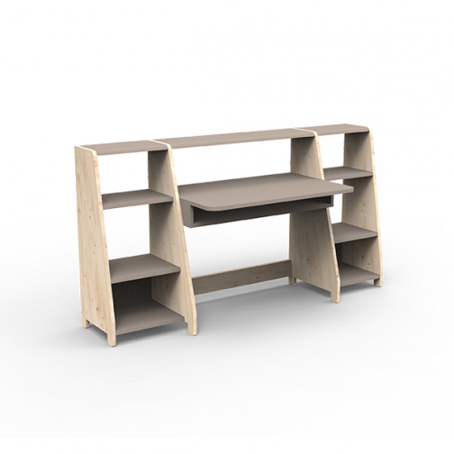 Bureau-montessori-avec-étagères-taupe