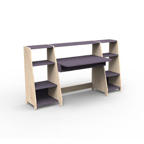 Bureau-montessori-avec-étagères-violet