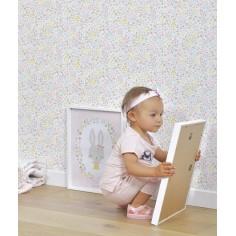 papier peint fleur chambre bébé