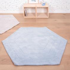 tapis-enfant-hexagone-bleu