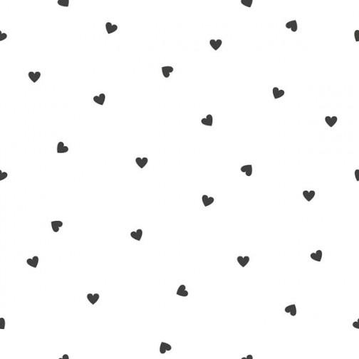 Papier Peint  BLANC avec coeur