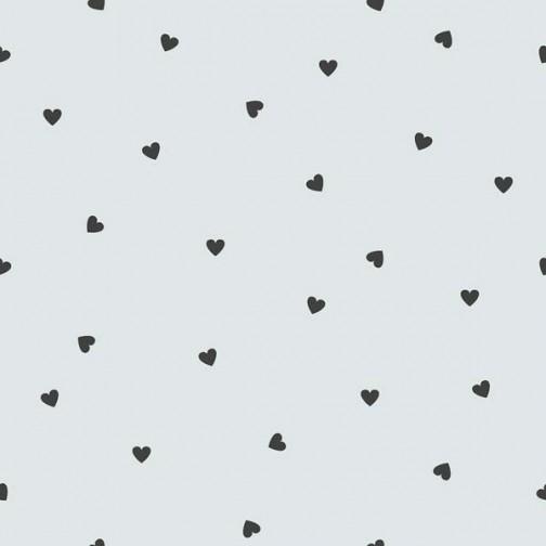Papier Peint gris avec coeur