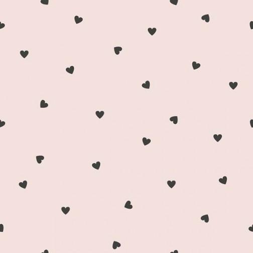Papier Peint rose avec coeur
