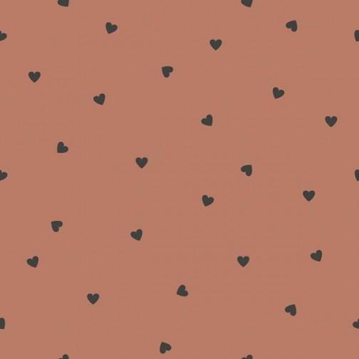 Papier Peint terracotta avec coeur