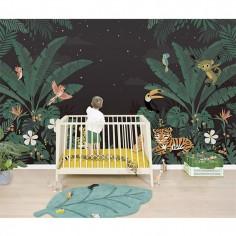 Papier Peint chambre bébé jungle