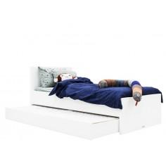 Lit 90x200 Camille Blanc (avec tête de lit)