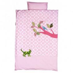 Housse de couette pour lit bébé et taie Inke Rose