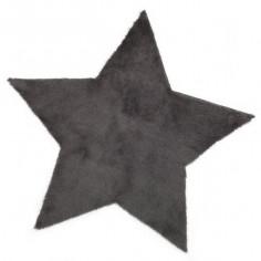 Tapis enfant étoile gris foncé - Pilepoil